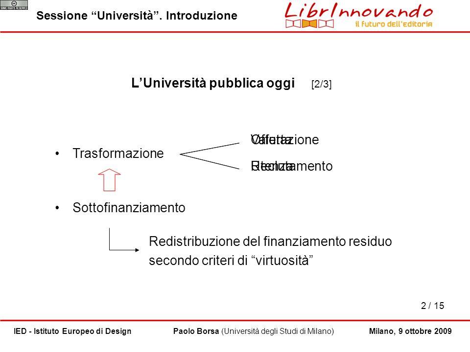 L'Università pubblica oggi [2/3]